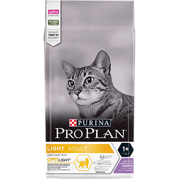 PURINA® PRO PLAN® LIGHT Adult 1+ Years ar OPTILIGHT®, bagātināta ar tītara gaļu