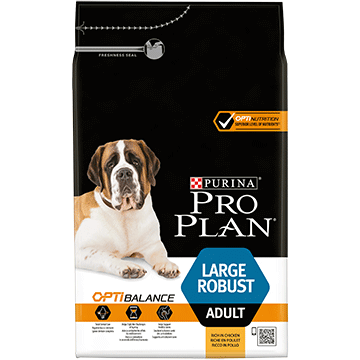 PURINA® PRO PLAN® Large Robust Adult ar OPTIBALANCE™ (sausā barība ar vistas gaļu)